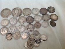 British Pre 1920 Silver 0.925 Sterling Silver Coins 162 Grams No Reserve