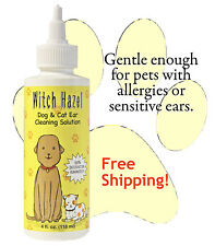 WITCH HAZEL DOG and CAT EAR CLEANER SOLUTION INFECTION CLEANING TREATMENT 4 oz