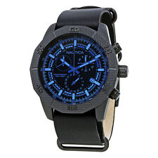 Nautica NST 11 Chronograph Black Dial Mens Watch NAD17524G