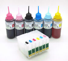 Cartouche D'ENCRE RECHARGEABLE kits + 300ml ink Fits Epson Stylus Photo 1 500 W non-oem