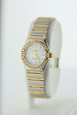 Omega Constellation 18k Yellow Gold Women's Mother of Pearl Wristwatch
