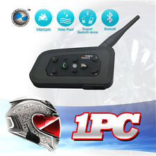 1 X 1200M BT Interphone Bluetooth Motorcycle Helmet Intercom Headset 6 Riders