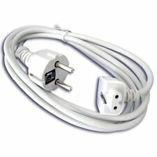"Apple Macbook Air 11"" Pro 13 15 MagSafe EURO 2-Pin Charger Extension Lead Cable"