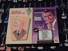 Martin Mull Live From North Ridgeville, Ohio + Milton Berle (VHS x 2) COMEDY LOT