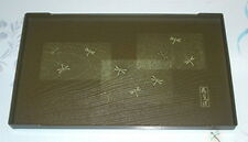 2x Japanese Plastic Sushi Plate Dragonfly Green #4361 S-2995x2