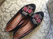 Womens Jeffrey Campbell shoes: Fine Black Suede Loafers sz. 8.5