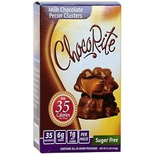 ChocoRite - Milk Chocolate Pecan Clusters Sugar Free, Low Calorie 6ct