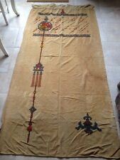original arts and crafts nouveau decorated velvet curtain textile wall hanging