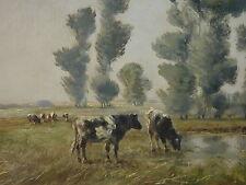 Kühe auf der Weide Naturalismus Impressionismus Jean Coune *1900 Düsseldorf