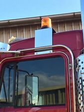 Stainless Beacon Brackets to fit most Kenworth trucks (Passenger Side)