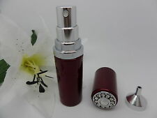 SWAROVSKI Pearl + Crystal RUBY Miniature PERFUME ATOMISER + FUNNEL Boxed GIFT