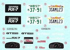 TAMIYA Decal 24060 1/24 Mazda Savanna RX-7 GT-Limited