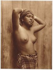 1920's Vintage Asian Sri Lankan Ceylon Female Nude Model Photo Gravure Print