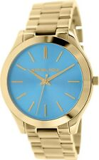 Michael Kors Women's Slim Runway MK3265 Blue Stainless-Steel Quartz Watch