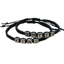 Couple Handmade Bracelets King And Queen His Hers Charms Bangle Fashion