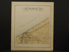 Indiana, La Porte County Map, 1892 Michigan Township, Lake Michigan O4#98