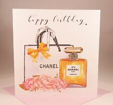 Luxury Ladies Chanel No.5 Perfume Wife Girlfriend Mother Daughter Birthday Card