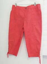 Style&Co. Womens Tummy Control Lace Up Capri Deepsea Coral Sz 14P - NWT