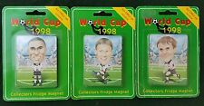 ENGLAND SQUAD COLLECTORS 3 FRIDGE MAGNET WC 1998 WORLD CUP SOCCER FIFA FOOTBALL