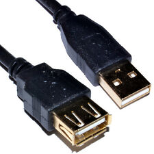3m USB 2.0 High Speed Cable EXTENSION Lead A PLug to Socket GOLD [006621]