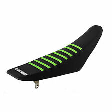 Kawasaki KXF450 2012-2015 Enjoy black/green ribbed gripper seat cover EJ1005