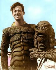 "RICOU BROWNING CREATURE FROM THE BLACK LAGOON 1954 4x6"" HAND COLOR TINTED PHOTO"