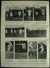Annual Athletics Meeting RMA Woolwich v RMC Sandhurst 1908 1 Page Photo Article