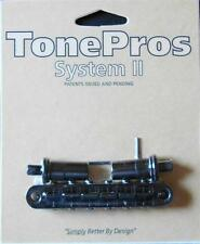 T3BT-B  TonePros Metric (Metric Thread) Tune-O-Matic Bridge, Black  Finish