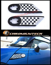 MK2 MINI Cooper/S/ONE R55 R56 R57 R58 R59 Chrome Side Scuttles Chequered Flag