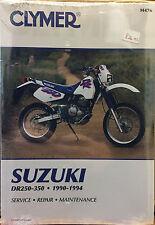 Clymer Suzuki DR250-350 Service Repair Maintenance Book 1990-1994