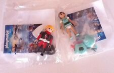 LOT 2  PLAYMOBIL   PERSONNAGE  QUICK  CHEVALIER    &  FEE  VERTE  SUPER 4