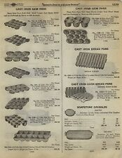 1923 Paper AD 2 Sided Griswold Cast Iron Waffle Iron Gem Pans Bread Pan Corn