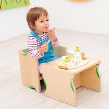 Childrens Kids Wooden Chair and Table 2 in 1 Flexi