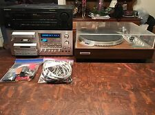 pioneer ct-f1250 Stereo Cassette Tape Deck, Pioneer PL-570 Turntable W/ Extras