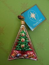 Christopher Radko XMas Tags Christmas Tree and Seabird Glass Ornament