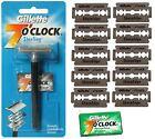 Gillette 7 O Clock Vintage Safety Razor & Platinum Double Edge Blades Shaver