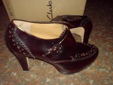 Clarks Womens ** BEA KAROB **SOFTWEAR ** WINE LEATHER ** UK 6.5