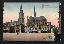 C1910 View of the market square, Furnes (Veurne), Belgium