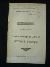 VENTOM BULL & COOPER AUCTION CATALOGUE MAY 1899 with UNUSED GERMAN STATES ETC