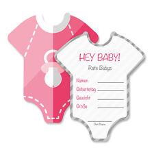 Babyparty DekoSpiel-Set 8 Stück - Babybody - mädchen - Mia-Felice