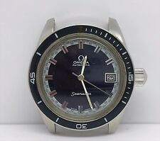 Vintage Omega Diver, Automatic Seamaster 60 Big Crown Blue Dial 70's Ref 166.062