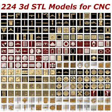 224 3d STL Models  for CNC artcam 3d printer aspire