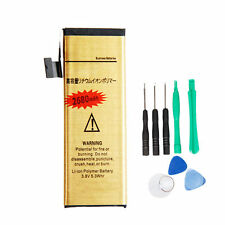2680mAh High-Capacity Gold Replacement Battery for Apple iPhone 5 + 8 in 1 Tools
