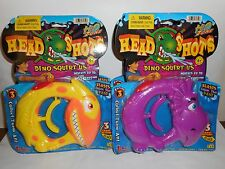 LOT OF 4 H2O ZONE HEAD SHOTS DINO SQUIRT 2 YELLOW 2 GREEN NEW IN PACKAGE