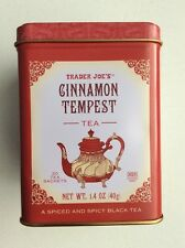 TRADER JOES GINNAMON TEMPEST TEA Container Tin Empty Box