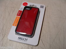 New Skech Kameo Leather Wallet Cell Phone Case Cover - For iPhone 5/5s Red