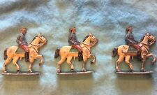 3 Toy Lead Infantry Soldiers on Horses French Soldat De Plomb