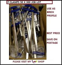 METAL F CLAMPS  50 X 300 MM  22pc PACK  IDEAL FOR BUILDING WORK *CHEAPEST*