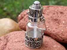 PERFUME/PRAYER/GHAU BOX PENDANT 925 SILVER/GLASS RAINBOW MOONSTONE