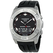 Tissot Racing-Touch Black Dial Black Chronograph Rubber Strap Mens Watch